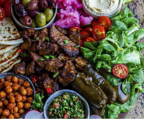 Middle Eastern Shawarma Sharing Platter